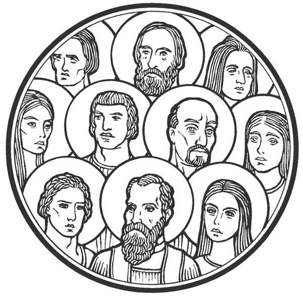 Catholic saints clipart.