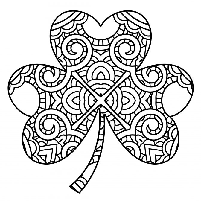 color pages: Awesome Free Printable Saint Patrick Coloring.