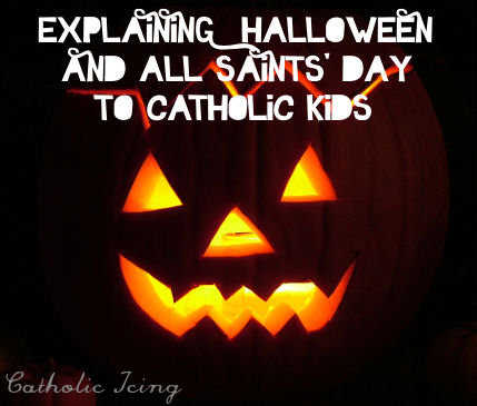 An explanation to kids of how All Saints' Day is related to.