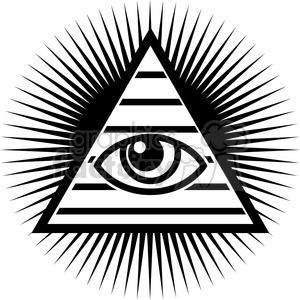 all seeing eye design clipart. Royalty.