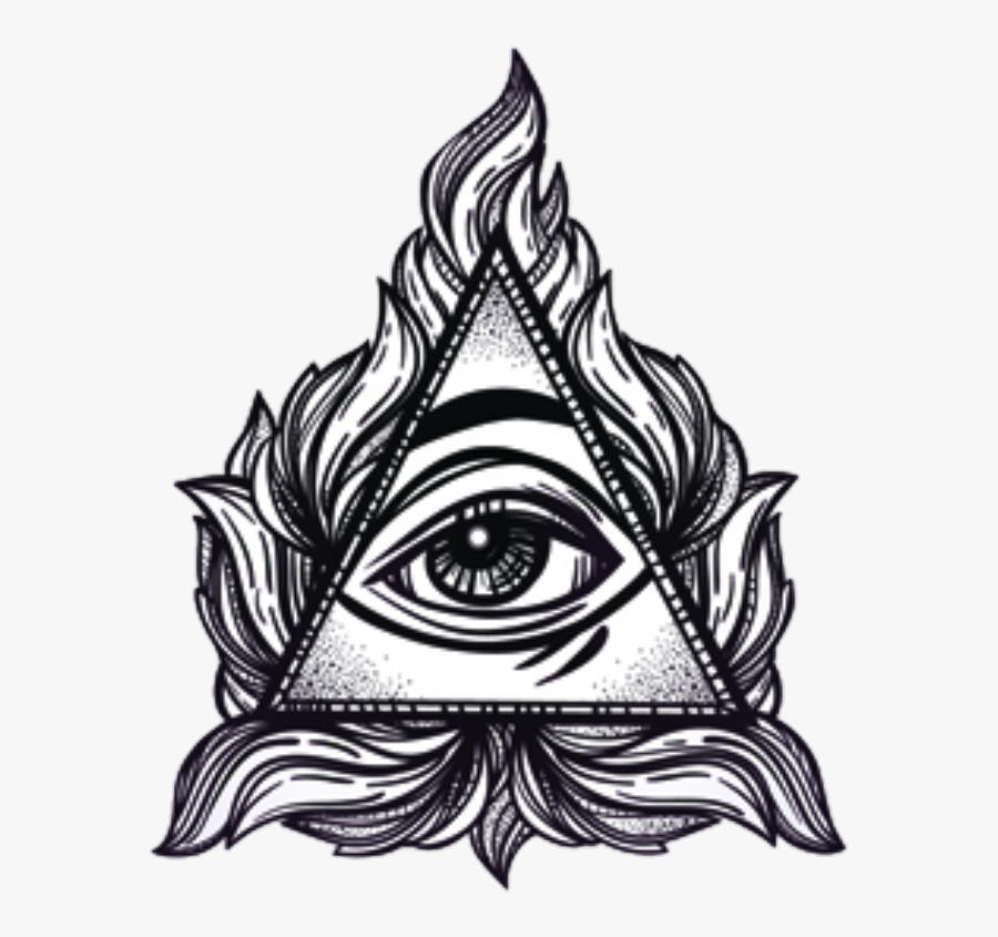 Pyramid All Seeing Eye Tattoo , Free Transparent Clipart.