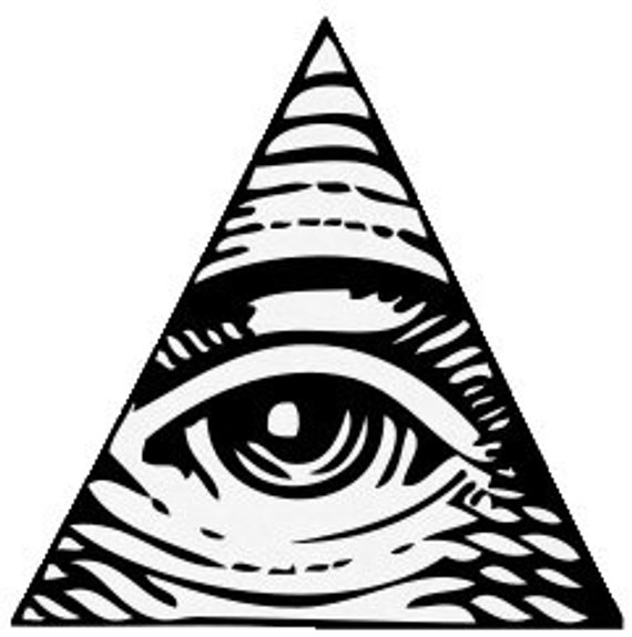 All Seeing Eye Temporary Tattoo.