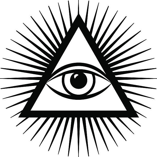 Royalty Free All Seeing Eye Pyramid Clip Art, Vector Images.