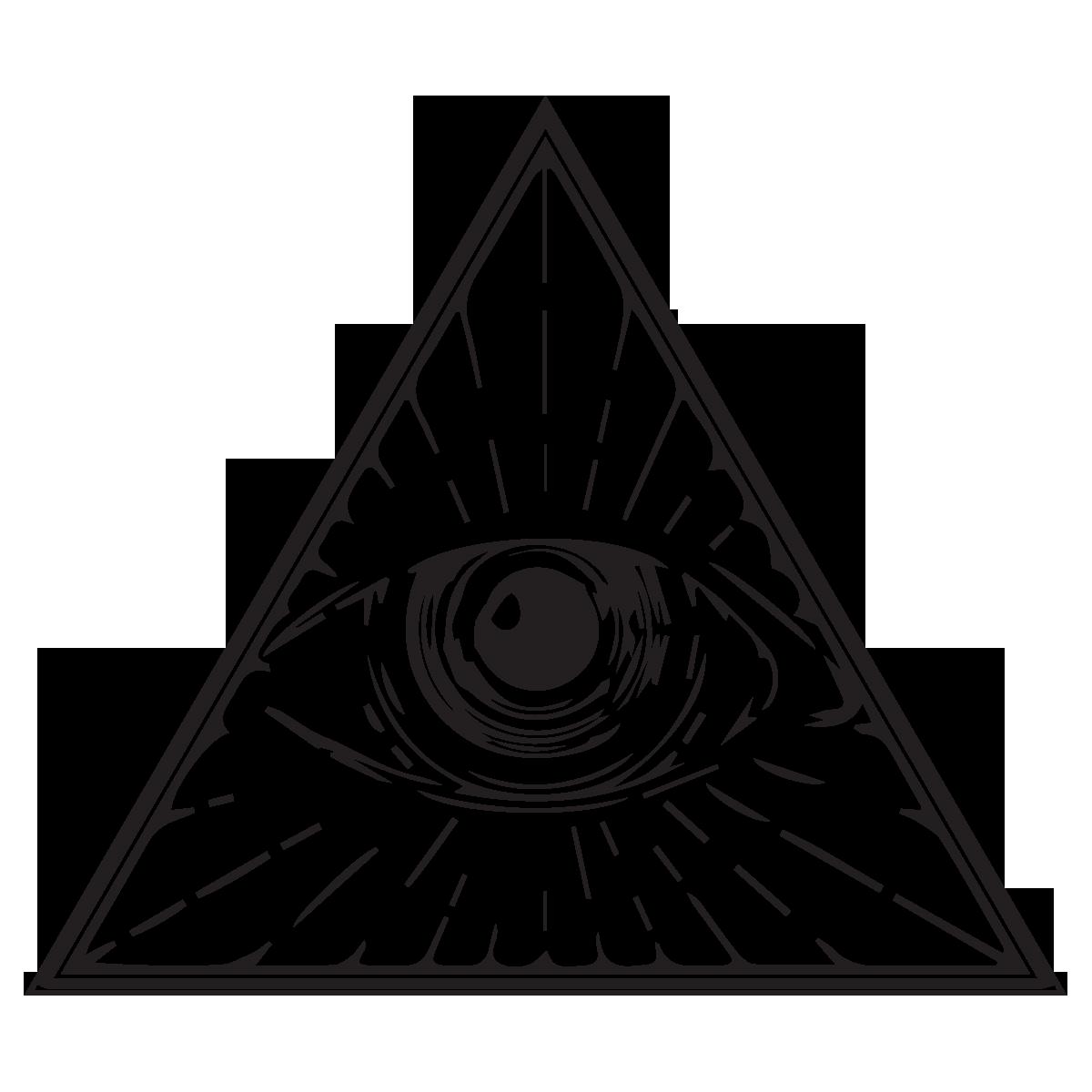 Eye of Providence Illuminati Drawing Clip art.