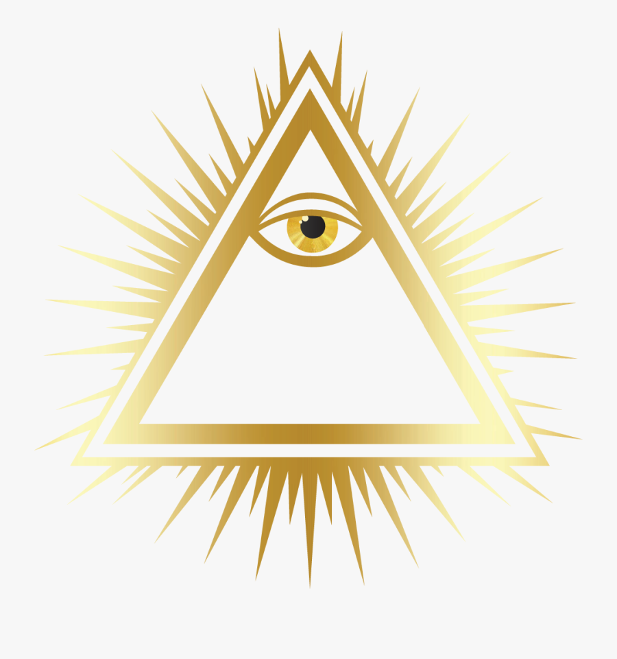 Transparent All Seeing Eye Pyramid Png.