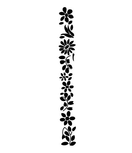 Black outline frame clipart with straight sides pointed top.