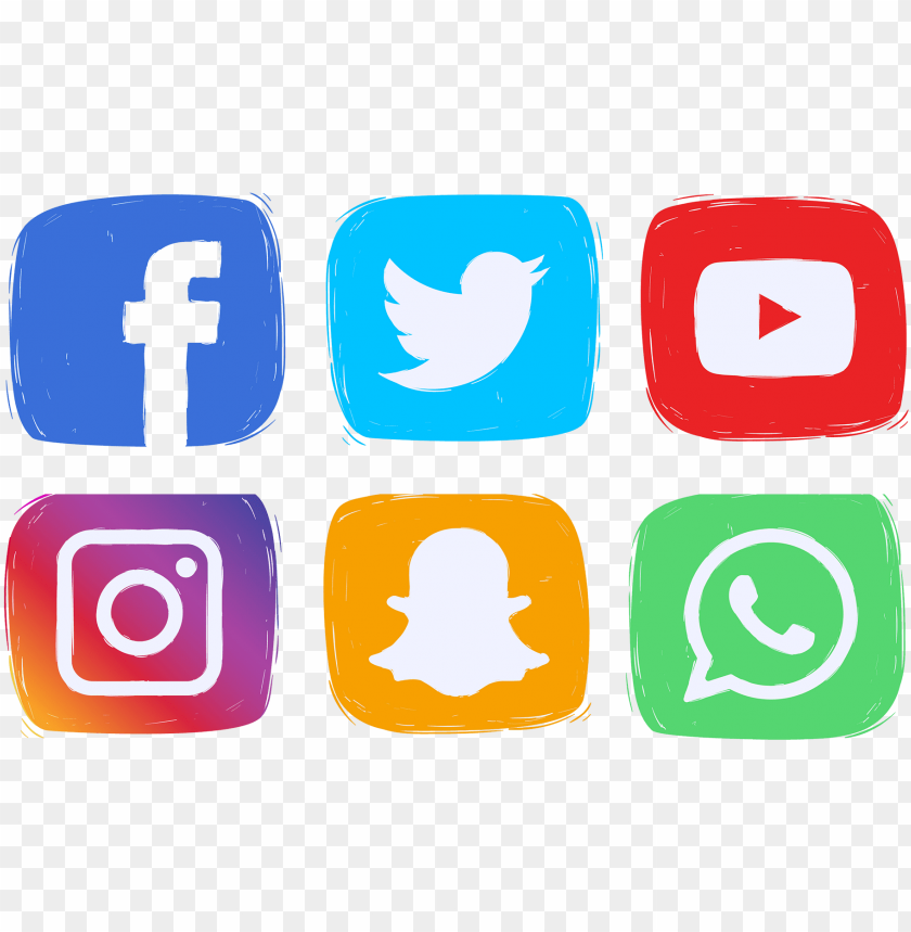 social media icons clipart PNG image with transparent.