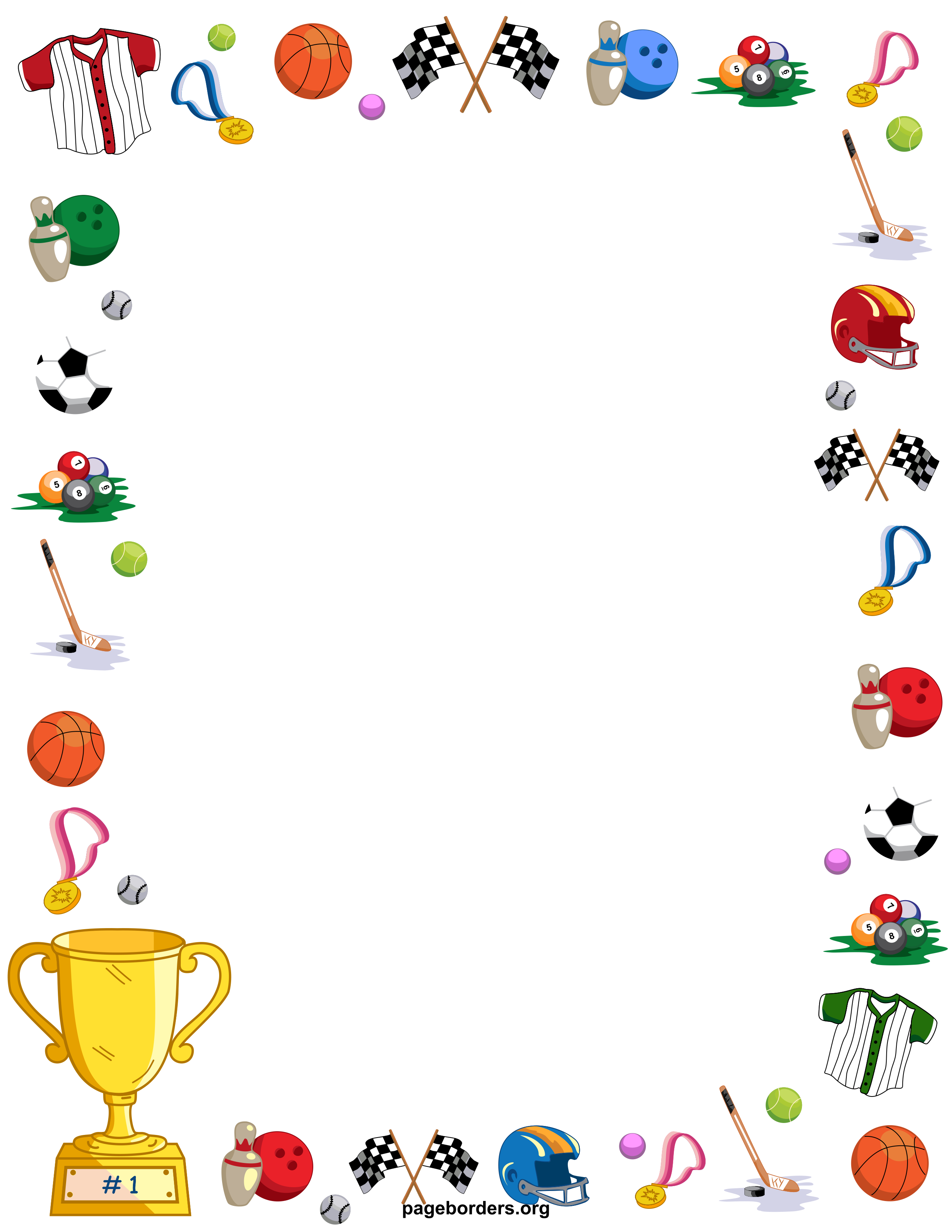 All Sports Backgrounds Clipart.