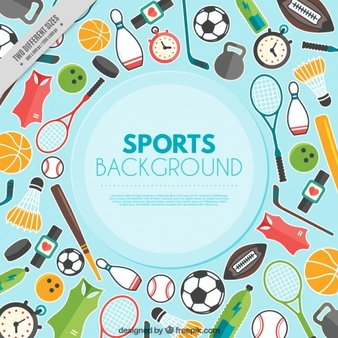 all sports backgrounds clipart #3