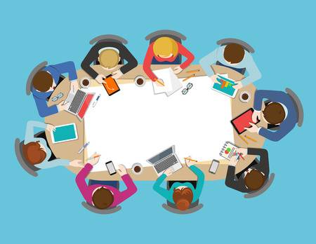 8,682 Staff Meeting Stock Vector Illustration And Royalty Free Staff.