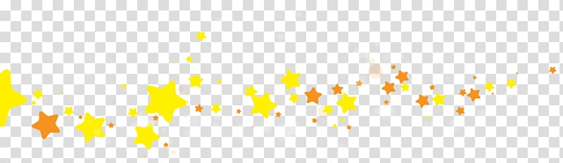 Yellow star banner creatives transparent background PNG.