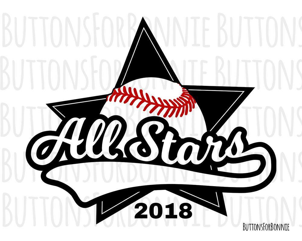 All Stars svg, Softball Svg, Baseball svg, vector, emblem, softball.