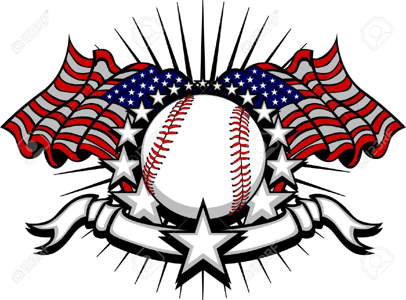Clipart of all star baseball logos.