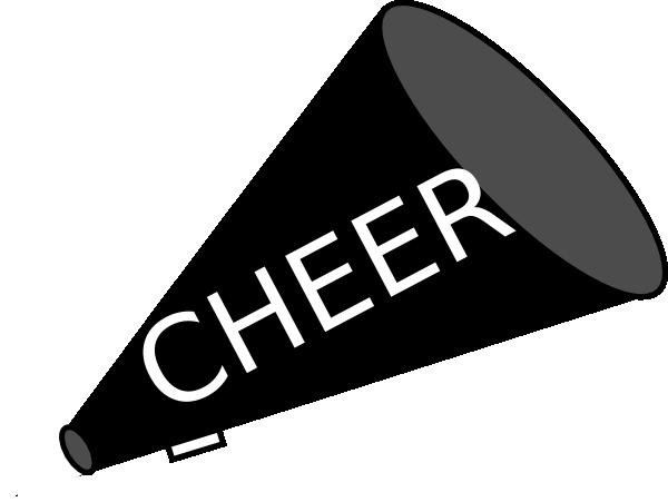 FREE cheer sillohette clip art black and white.
