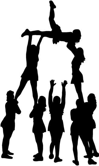 Cheerleader clipart cheerleading stunt.