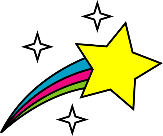 Shooting Stars Clipart Black And White.