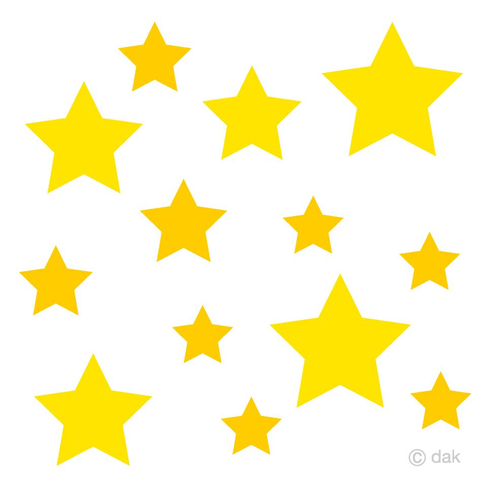 Many Stars Clipart Free Picture|Illustoon.