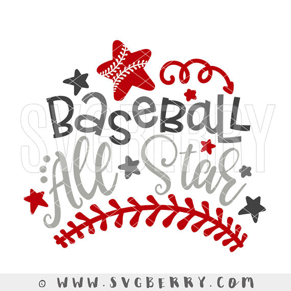 Baseball All Star SVG / All Star Baseball SVG / Baseball.