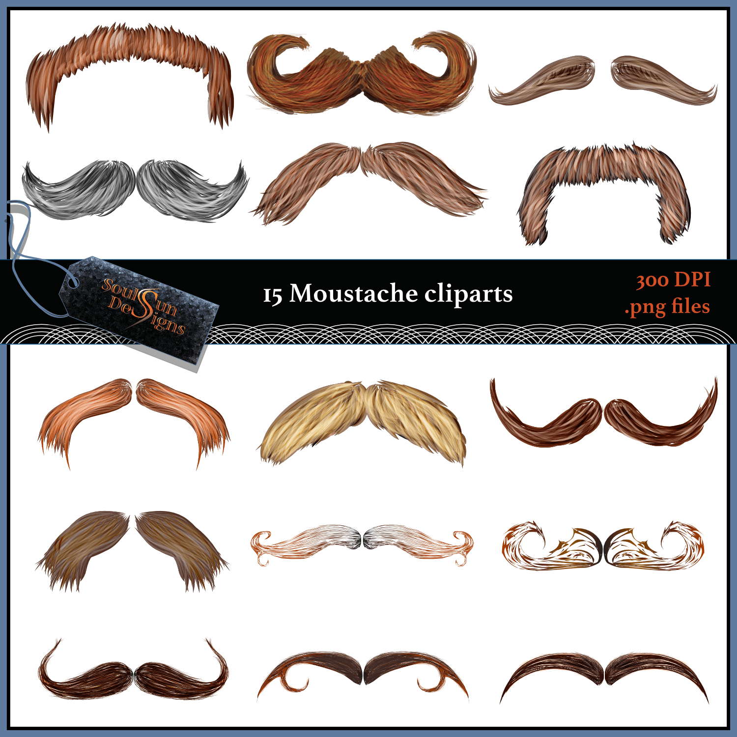 Moustache Cliparts.