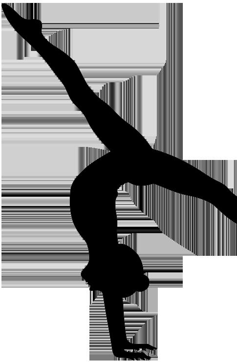 Gymnast Tumbling Silhouette.