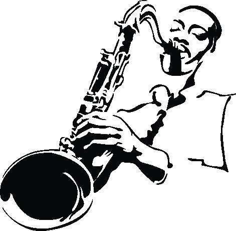 jazz art black and white.