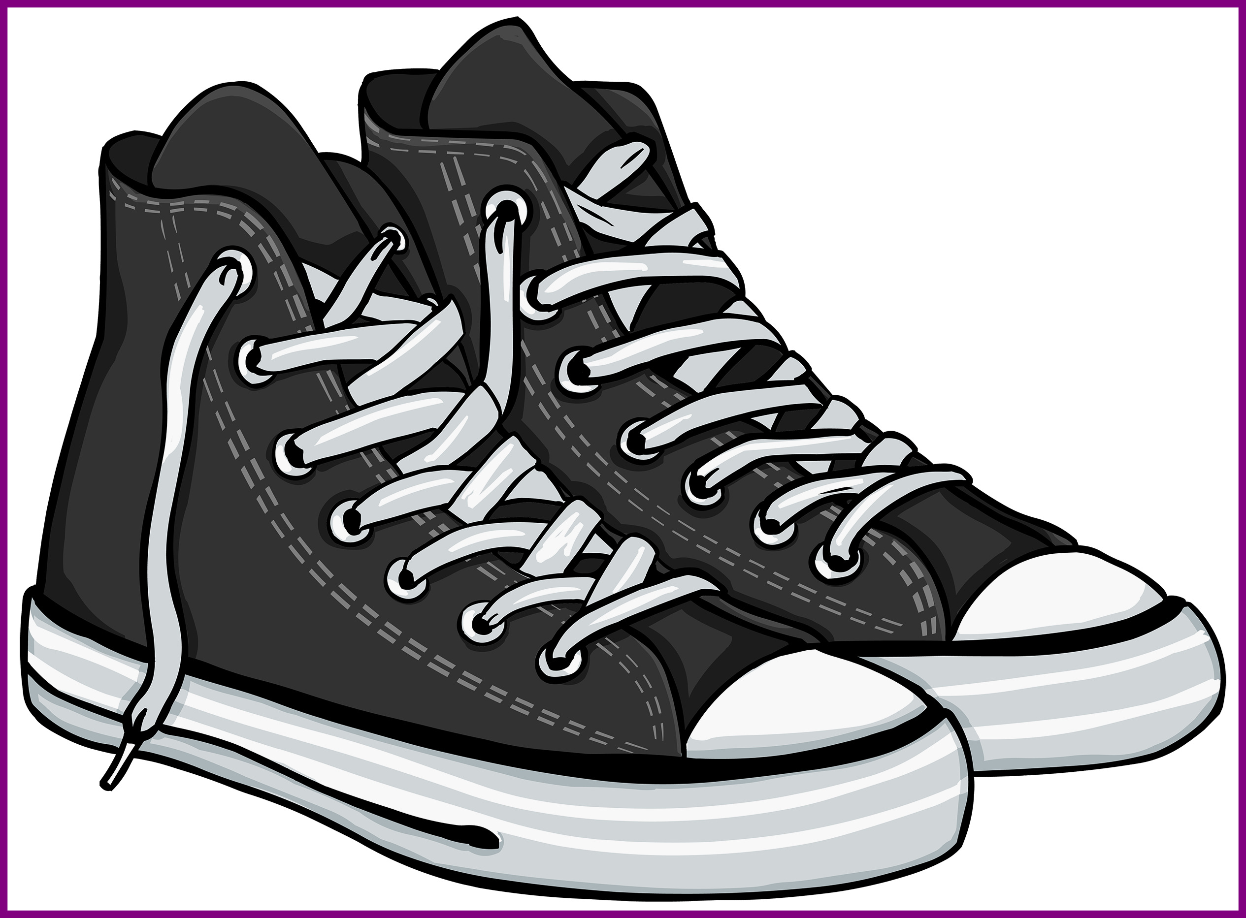 314 Tennis Shoes free clipart.