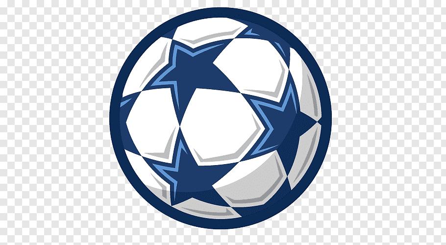 Blue and white soccer ball illustration, football stars free.