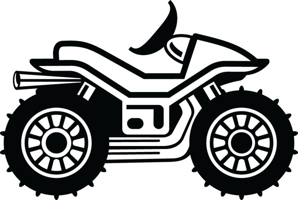 ATV All Terrain Vehicle Clip Art For Custom Gifts & Products.
