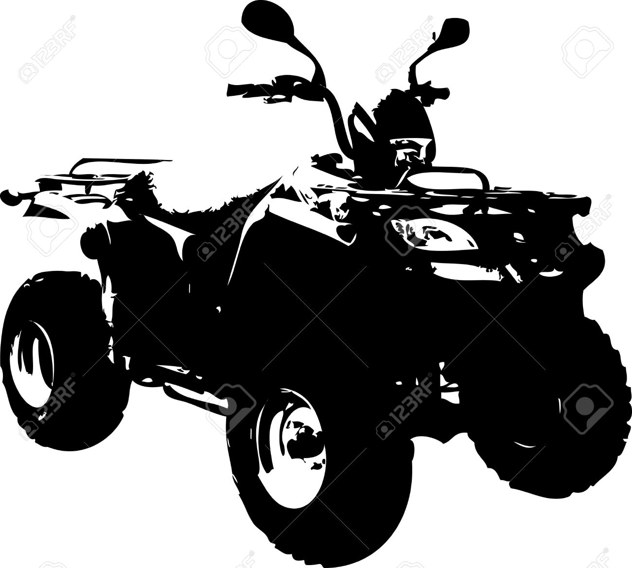 All Terrain Vehicle Isolated On White Background Royalty Free.