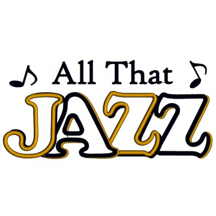 All That Jazz Music Applique Machine Embroidery Digitized Design Pattern.