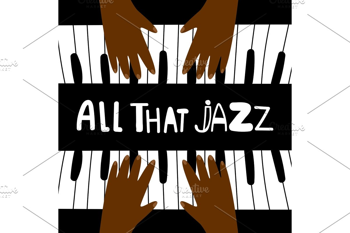 All that jazz, music piano poster.
