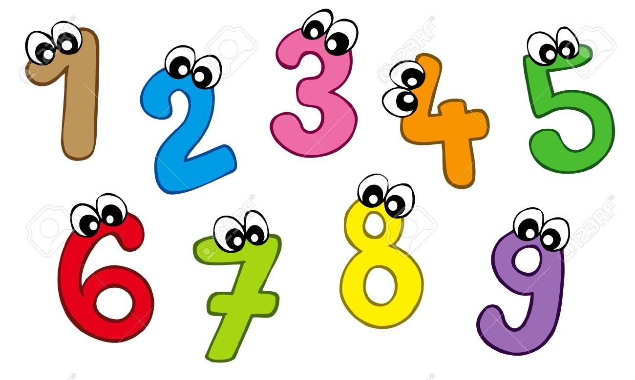 With Eyes Numbers Clipart 1 15 Clipart Cartoon Numbers.