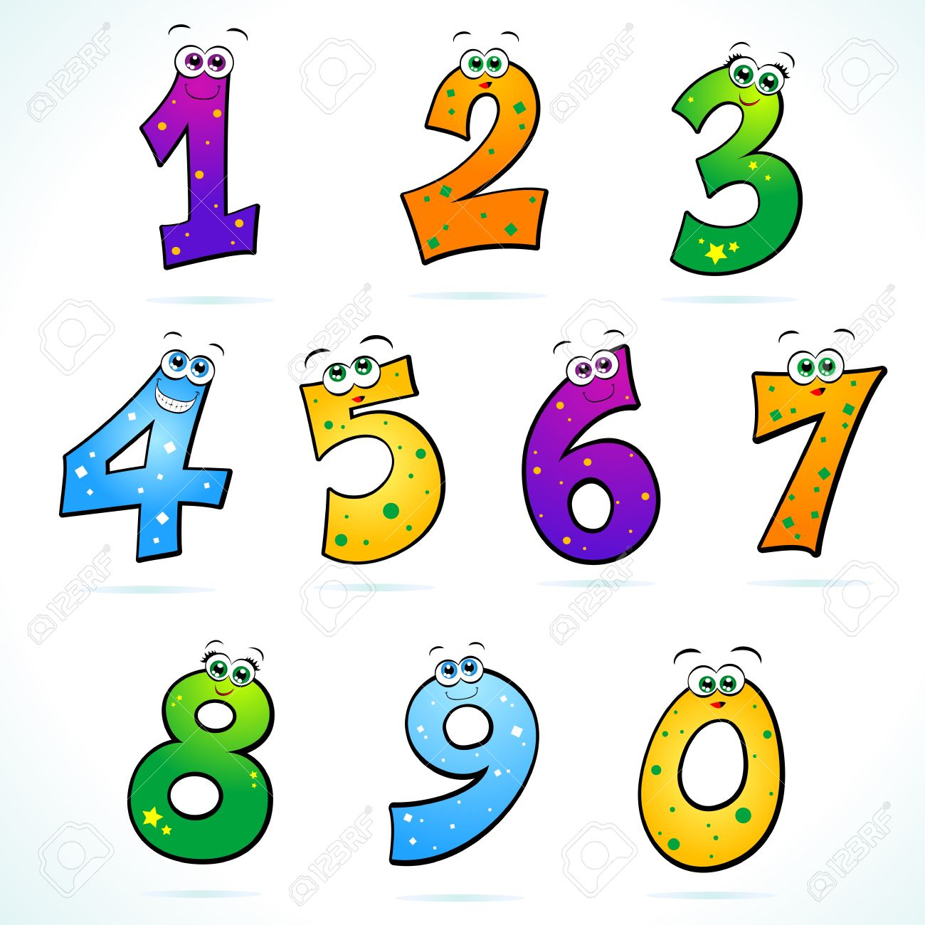 Funny numbers clipart » Clipart Station.
