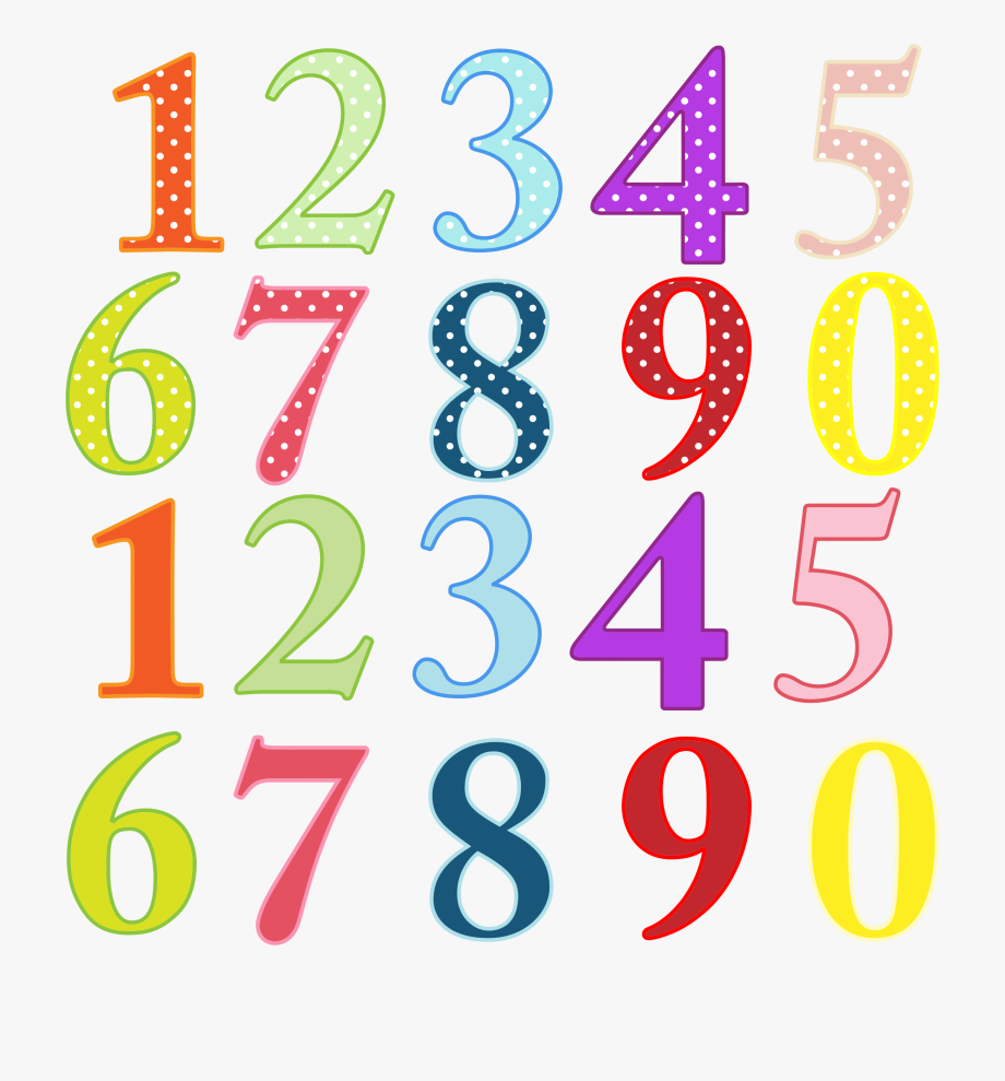 Numbers Clipart Transparent.