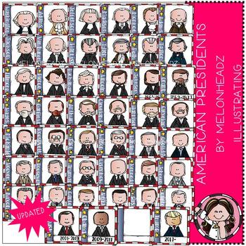 American Presidents clip art.