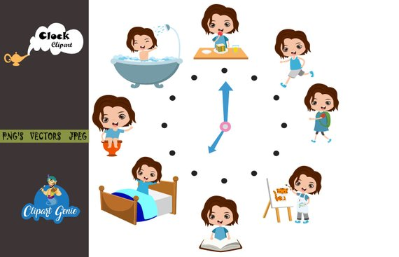 Time clipart, clock clipart, watch clipart, time table.