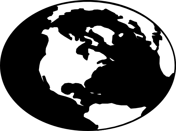 World Black And White Around The World Clipart Black And White.