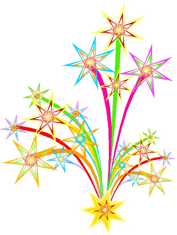 Happy new year clipart fireworks.