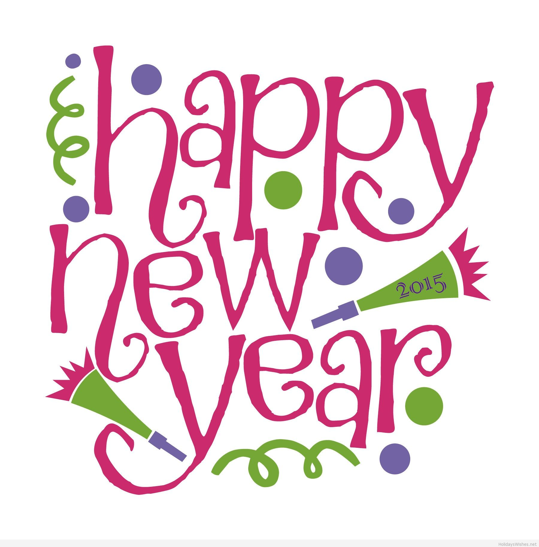 Happy 2015 New Year Clip Art Photograph.