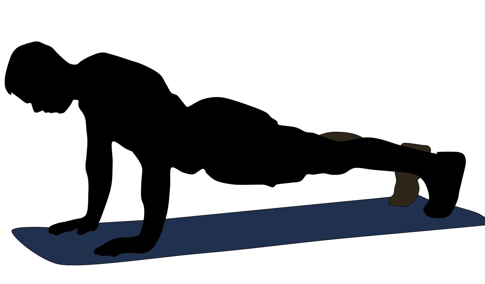 Plank Exercise Clipart.