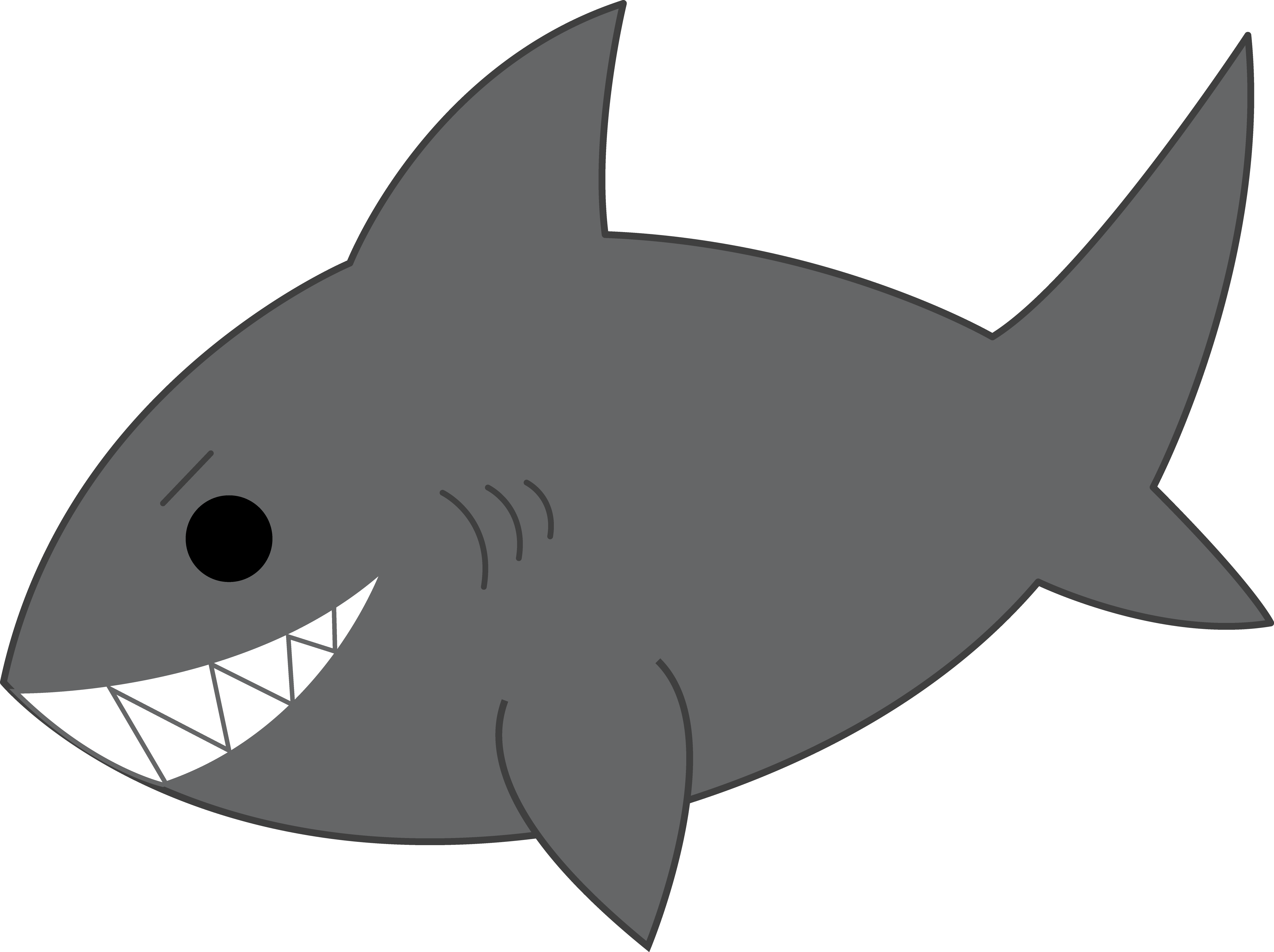Shark black and white shark clip art black and white free.