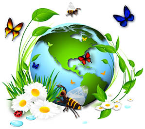 Living Things And Their Environment Clipart.