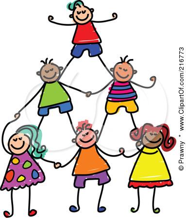 Children Working Together Clipart.