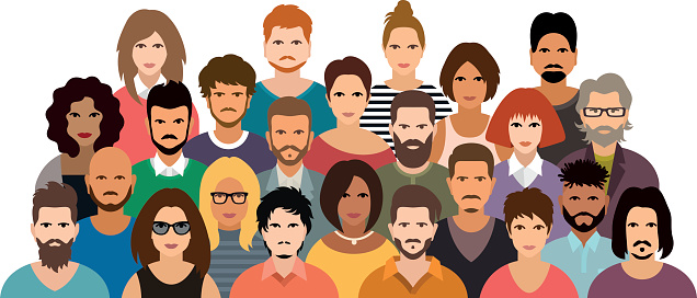 5 People Clipart.