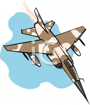 Brown and Tan Camouflage Military Plane Flying Down Fast.