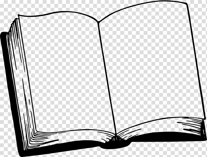 Book Black and white , book transparent background PNG.