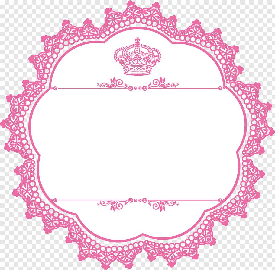Pink and white crown borderline illustration, Logo Crankset.