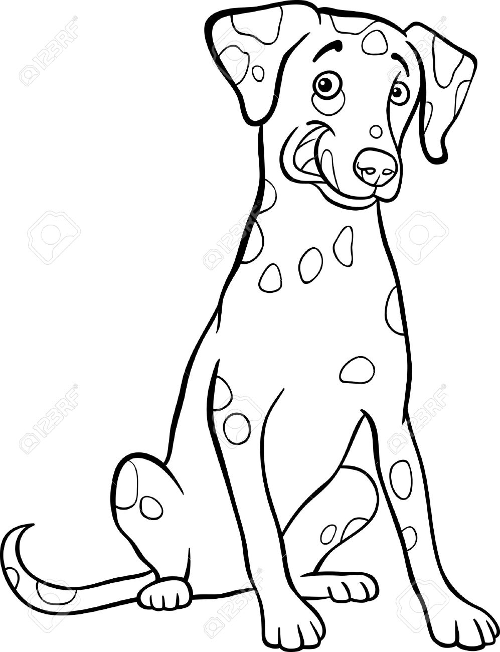 Dalmatian clipart black and white 2 » Clipart Station.