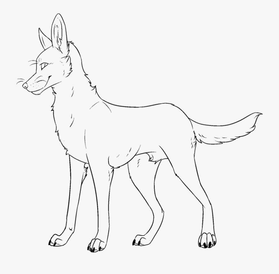 Lineart Fire Dog.