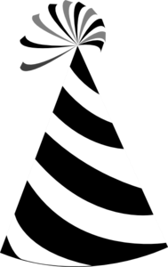 Black And White Party Hat Clip Art at Clker.com.